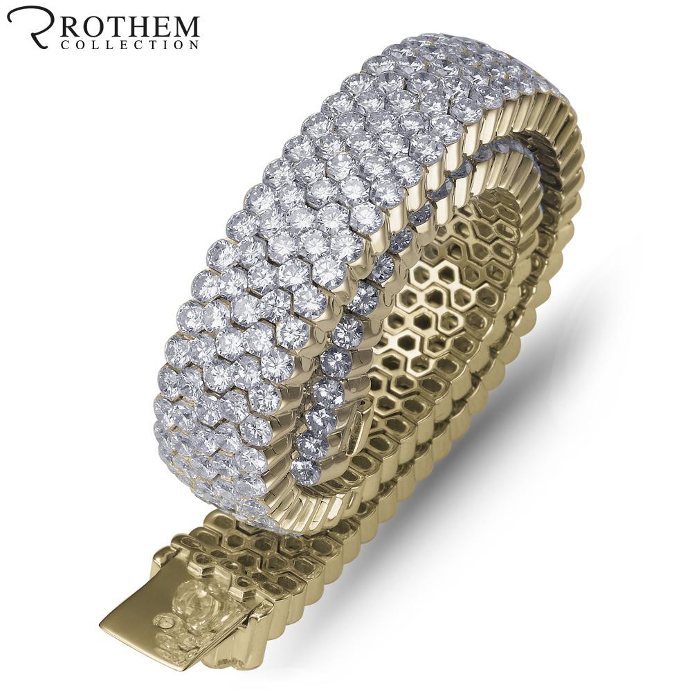Expensive Gold Bracelet: Expensive 18 Ct Wide Diamond Tennis Bracelet Invisible