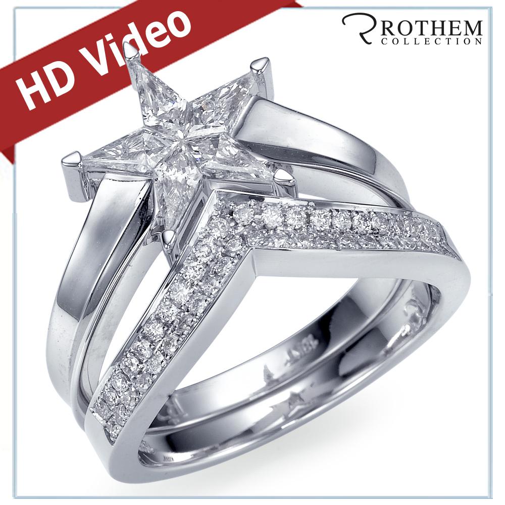 Shaped Wedding Band: 0.70 Ct Star Shaped Diamond Engagement Ring Wedding Band