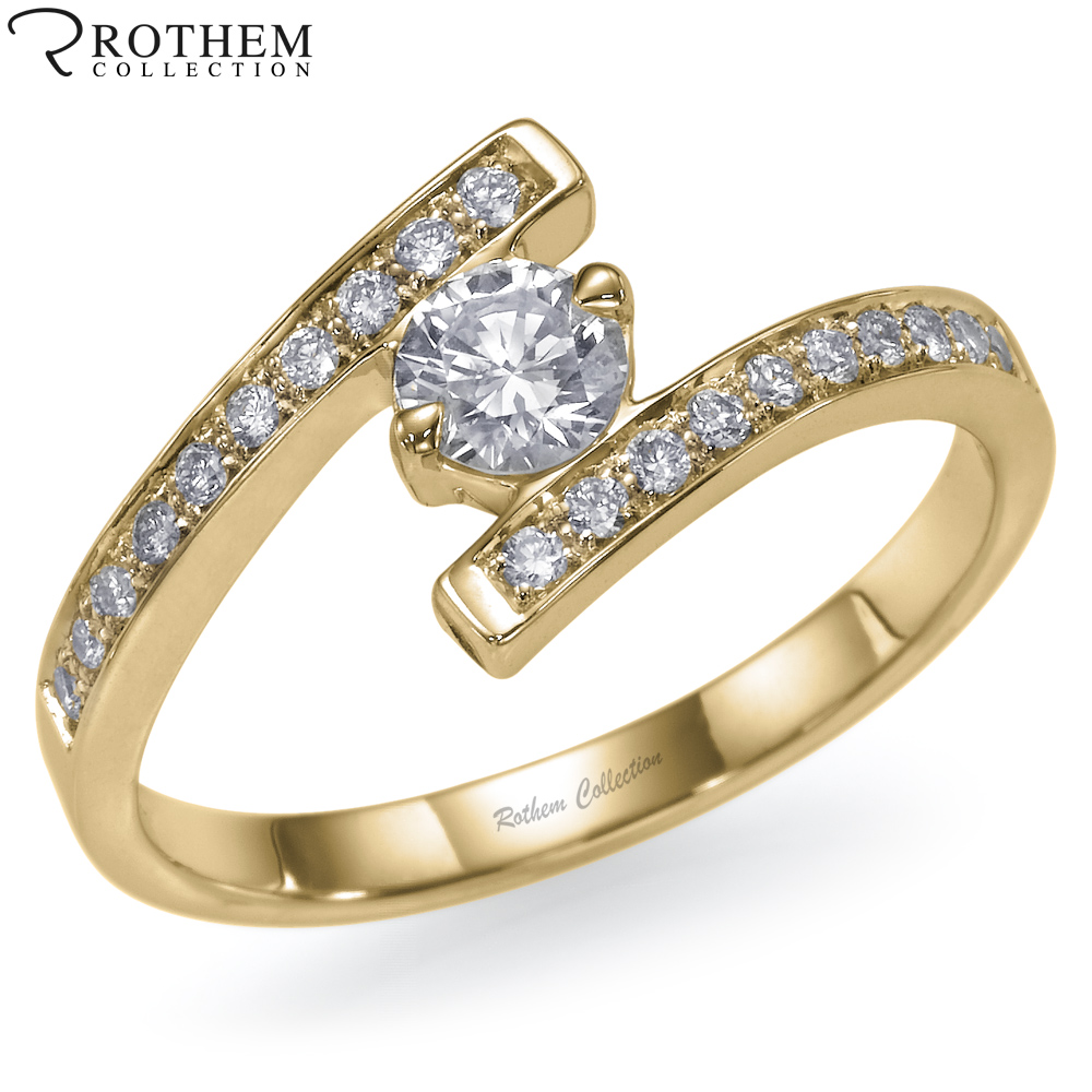 real 0 55 carat l i2 bypass twist engagement ring