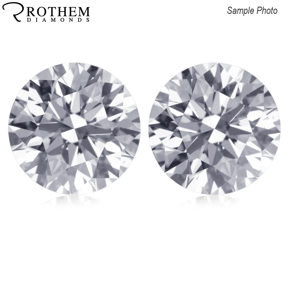 Two 5 1 Mm 0 98 Ct Round Cut Loose Diamonds Set D I1